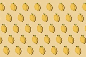 Lemons repeated pattern