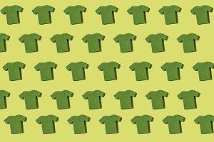 Green T-shirt repeated pattern