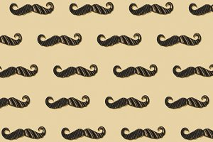 Mustaches repeated