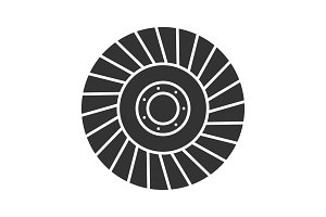 Abrasive flap wheel glyph icon