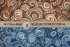 Waves Seamless Patterns