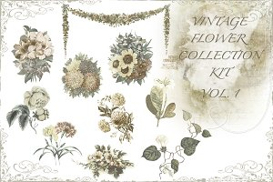 Vintage flower kit vol 1