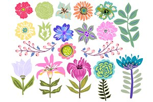 Flowers Clip Art 19 Illustrations