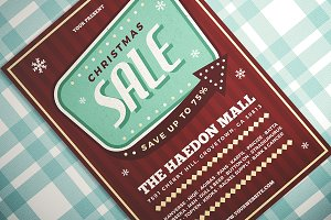 Retro Christmas Sale Flyer