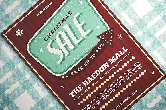 Retro Christmas Sale Flyer