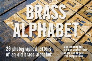 Brass alphabet for designers