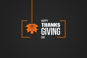 Thanksgiving logo design background