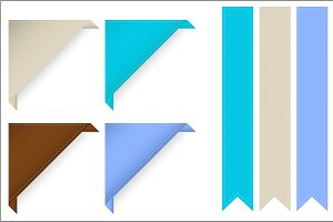 Corner and Ribbon Frames Vectors