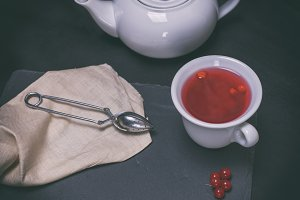 tea from berries of a viburnum