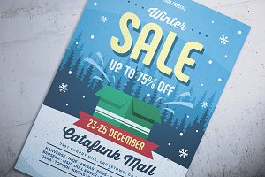 Retro Winter Sale Flyer