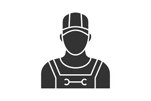 Plumber glyph icon