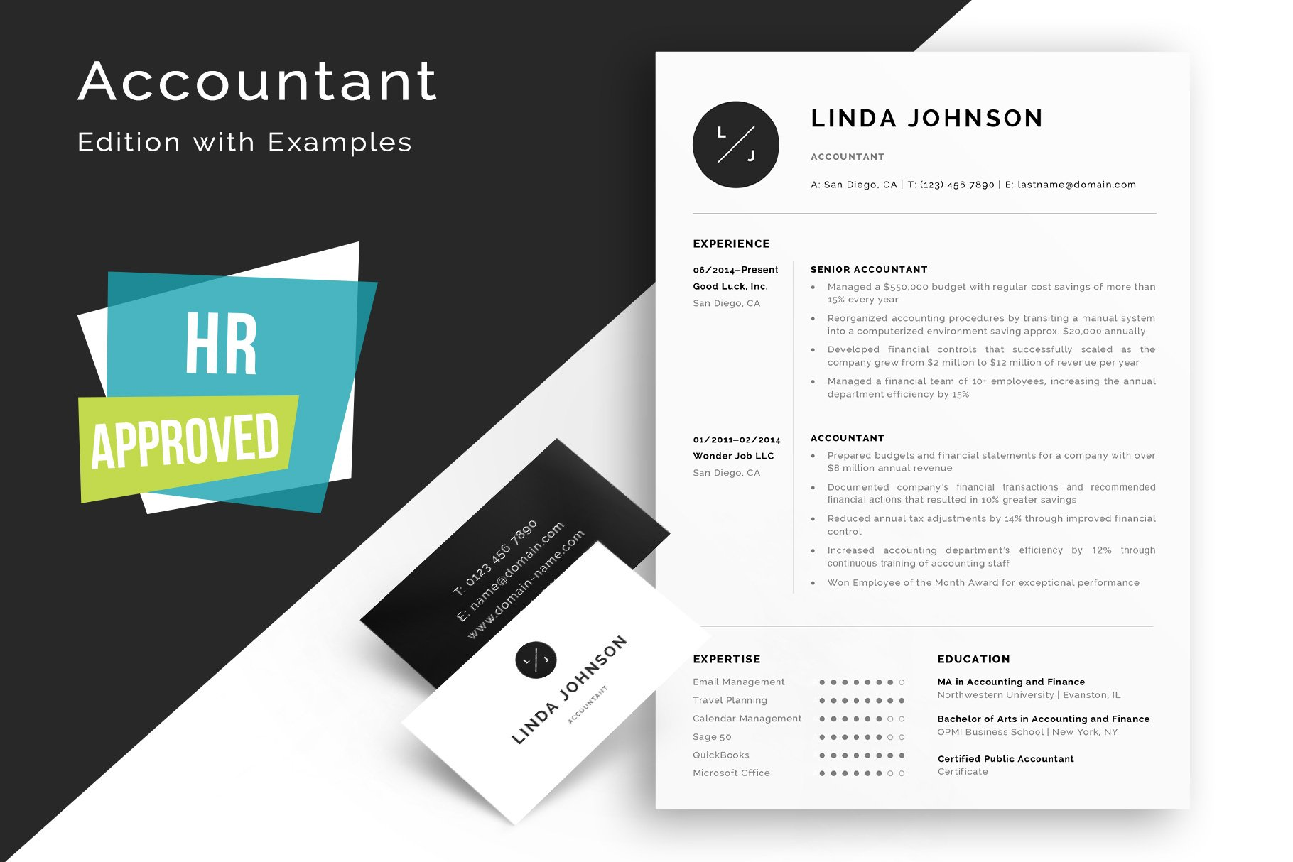 Resume Template - Accountant Edition ~ Resume Templates ~ Creative ...