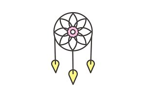 Dreamcatcher color icon
