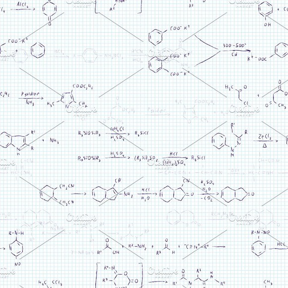 Chemical Reaction Equations Pattern