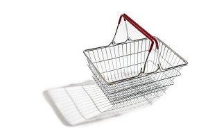 Shopping basket white isolated