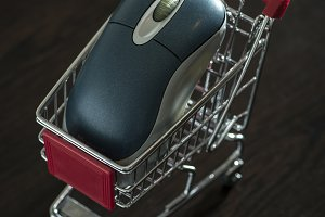 Shopping cart and computer mouse