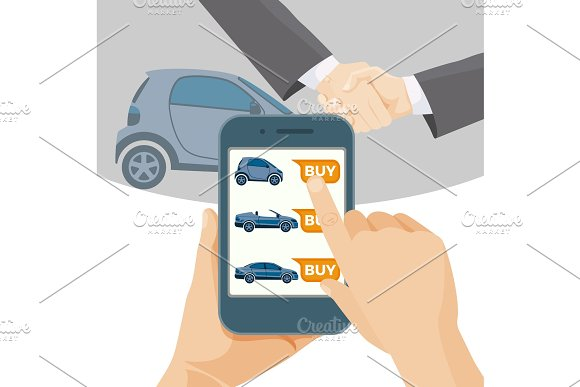 Buy car online by means of modern smartphone