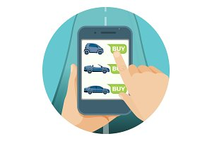 Convenient car purchase in smartphone by online application
