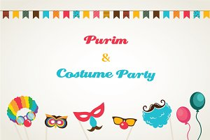 Purim, Carnival and Halloween cards