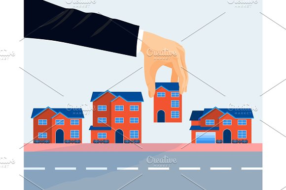 Real estate business promotional poster vector illustration. in Illustrations
