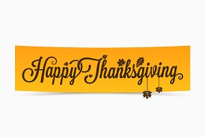 Thanksgiving lettering banner design