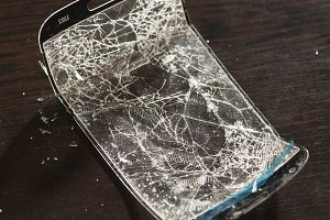 Broken screen for smartphone