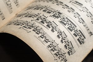 Music notation book.