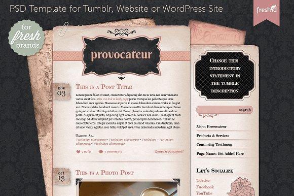 provocateur website template website templates creative market