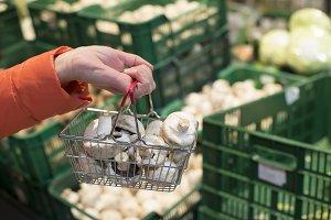 Vegetables in supermarket.