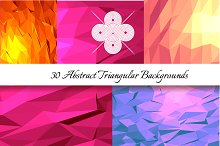 30 Abstract Triangular Patterns