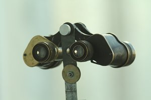 Vintage binoculars to scout