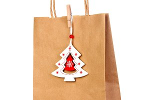 paper Bag with Christmas decoration