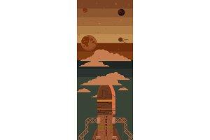 Rocket ship illustration