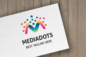 Media Dots (Letter M) Logo