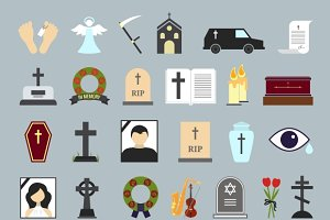 Death, ritual and burial icons