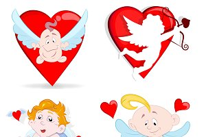 Valentine Cupids Cartoon Characters
