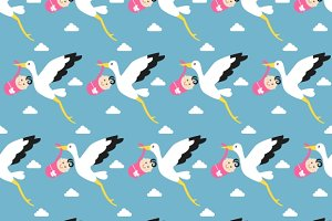 Seamless Baby Items Patterns