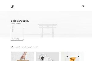 Puppin portfolio html template