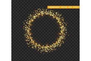 Gold shiny round frame. Only for use in Adobe Illustrator, eps10
