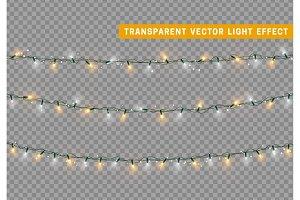 Christmas lights. Xmas Garlands.