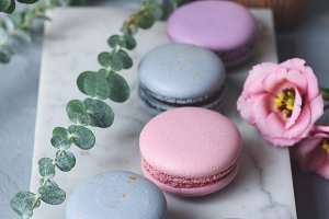 Luxury french macaroons