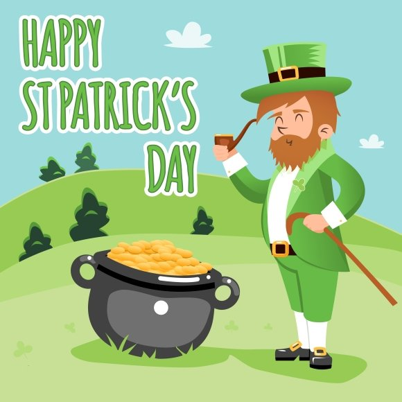 Happy St. Patrick Day Poster ~ Graphics on Creative Market