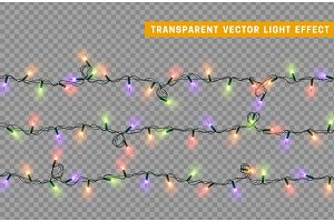 Christmas lights. Xmas Garlands.