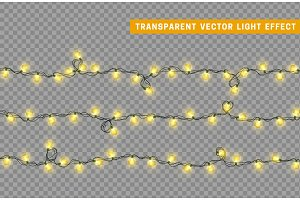 Christmas lights. Xmas Garlands. Only for use in Adobe Illustrator, eps10