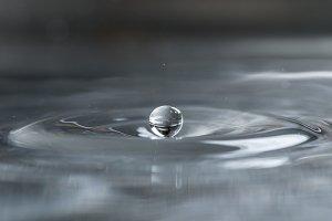 Water drops close up