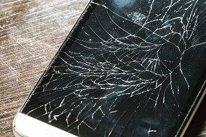 Cracked smart phone screen