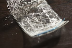 Cracked smart phone screen