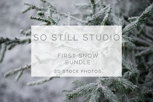 First snow stock photo bundle