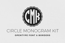 circle monogram