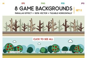 8 Game Backgrounds Set 2